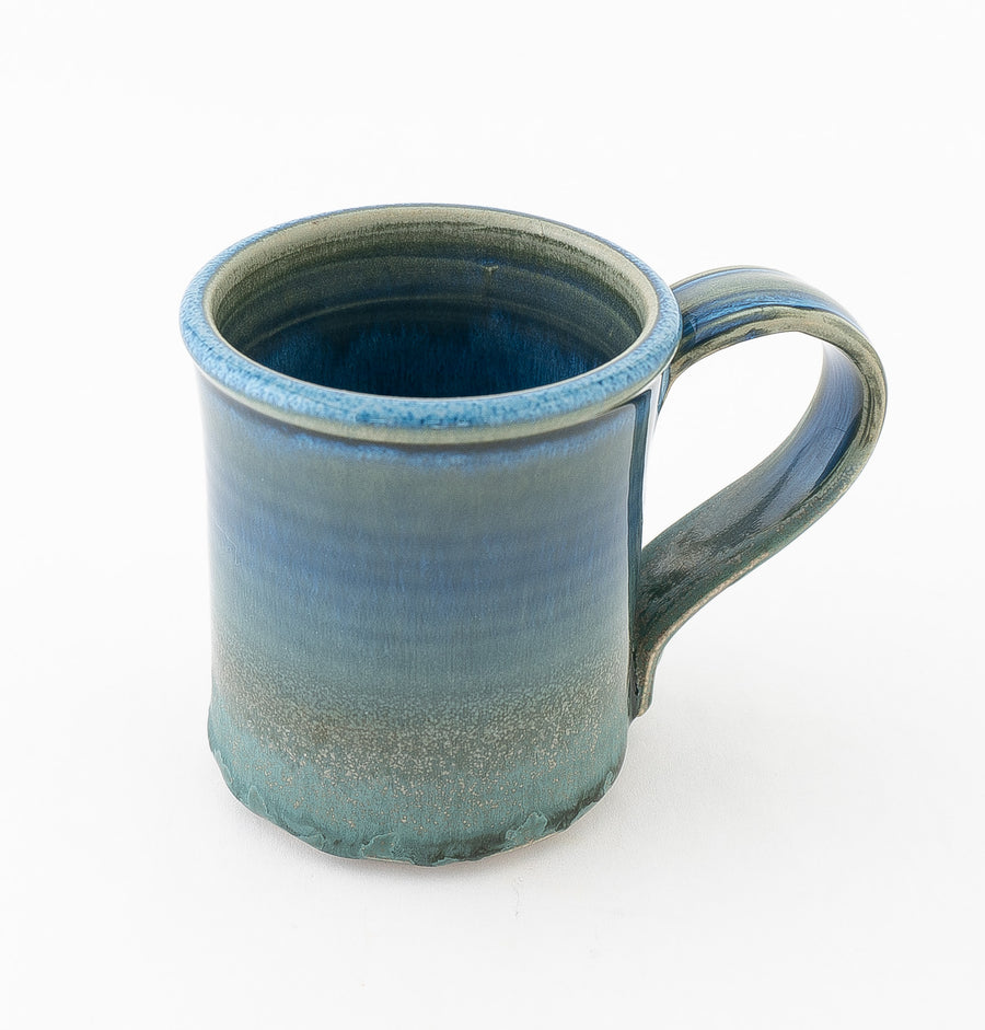 stoneware coffee mug in seascape - household goods - kitchenware - handcrafted pottery