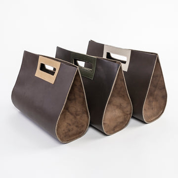 The Leather Teardrop Handbag