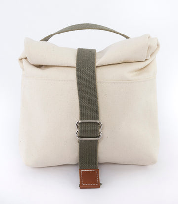 The Field Pouch - Canvas Roll-top Pouch - cream - accessory bag