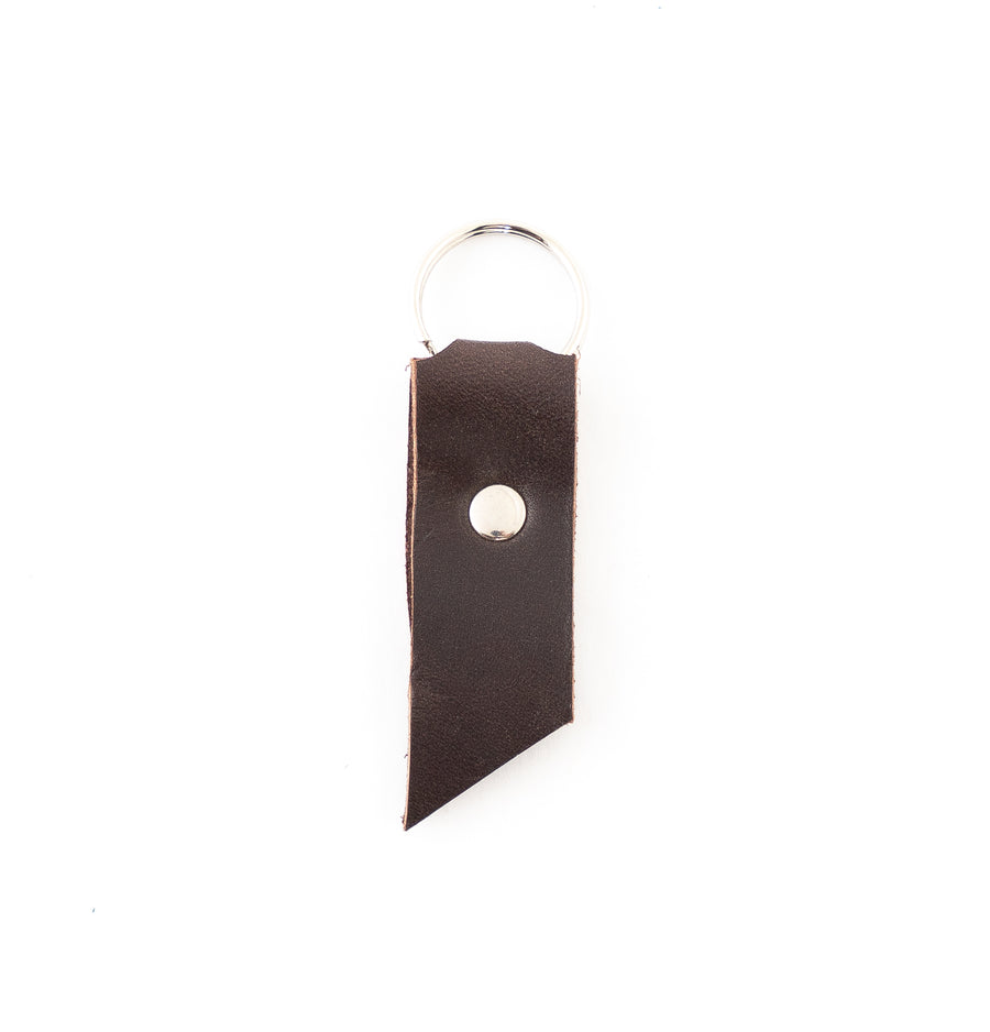 Wide Leather keychain