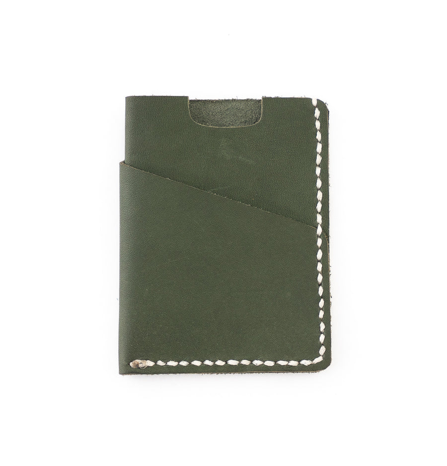 the brockman wallet in forest green - high quality handmade goods -
