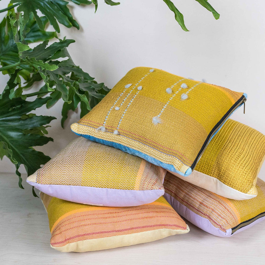 Handwoven Mini Throw Pillows