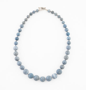 Blue Pumice Stone Necklace