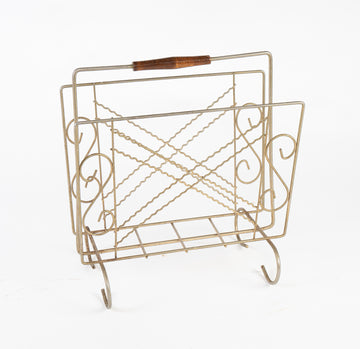 vintage magazine holder - mid-century modern - large format magazines - vintage - beckett street - found in Maine