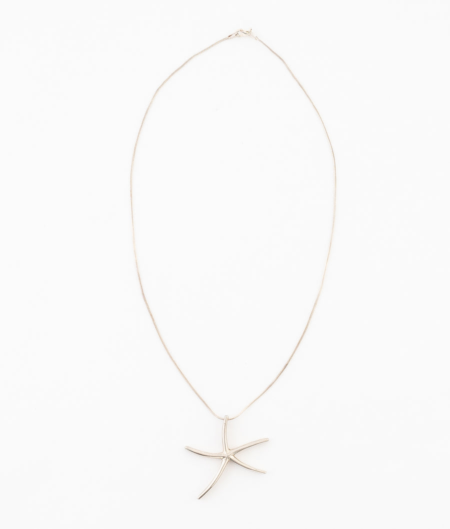 Star Fish Sterling Silver Necklace