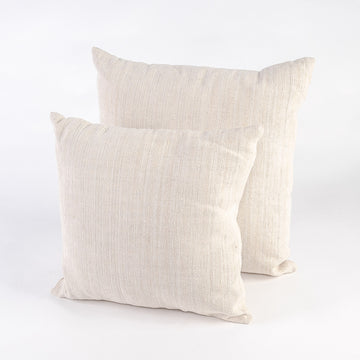 plain vintage french linen pillows - handmade - 16 or 20 inches - home decor - bed and bath