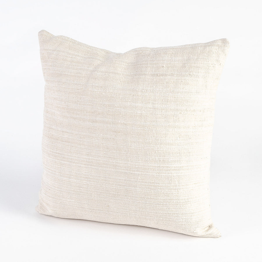 vintage french linen pillow - single shot - handmade locally