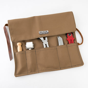 canvas utility roll - tool bag - painters kit - barber set - handmade in Maine