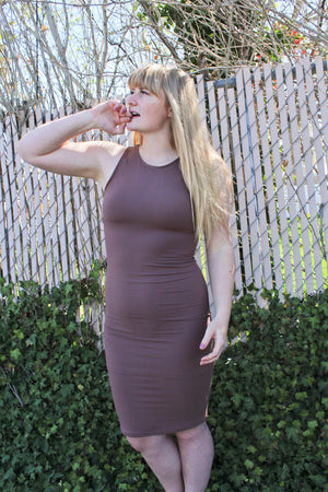 Chanel Bodycon Dress (Taupe)