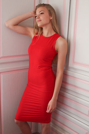 Chanel Bodycon Dress (Red)