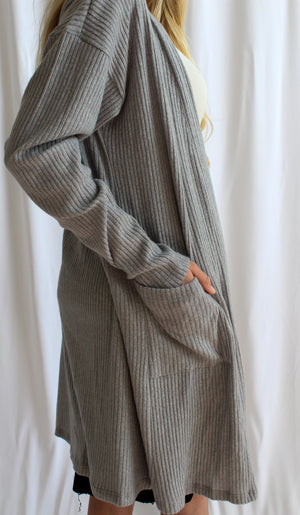 Cozy Nights Cardigan (Gray)