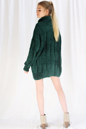 Christmas Eve Oversized Sweater (Green)