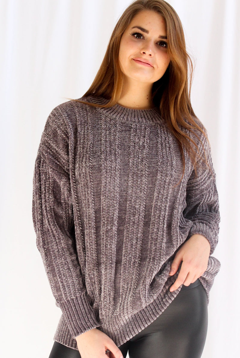 Cuddle Me Oversized Sweater (Gray)