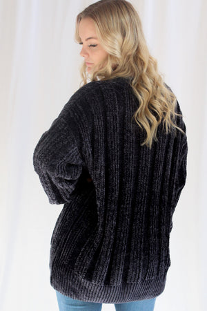 Cuddle Me Oversized Sweater (Navy)