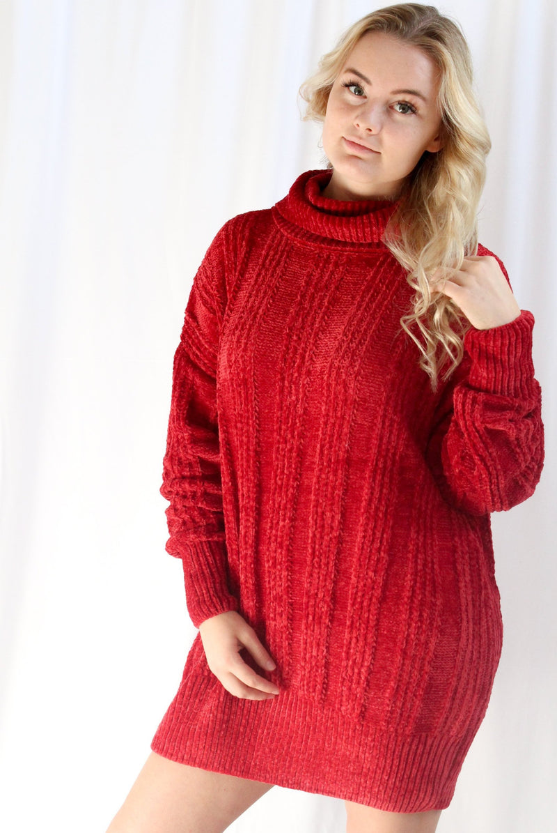 Christmas Eve Oversized Sweater (Red)