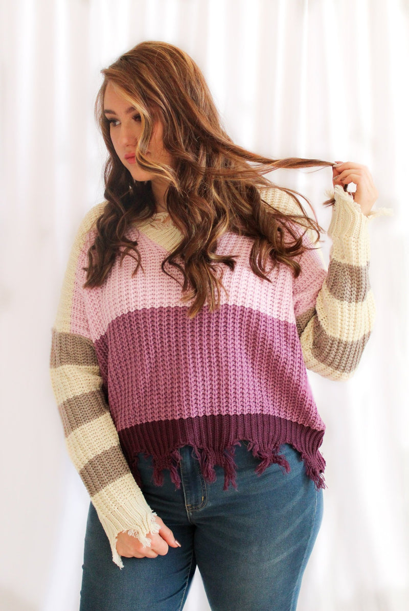 Lavender Fields Sweater