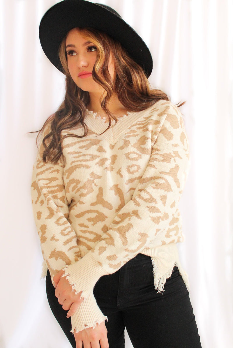 Wild & Free Sweater (Cream)