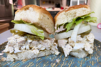 Cubano Chicken Salad Sliders