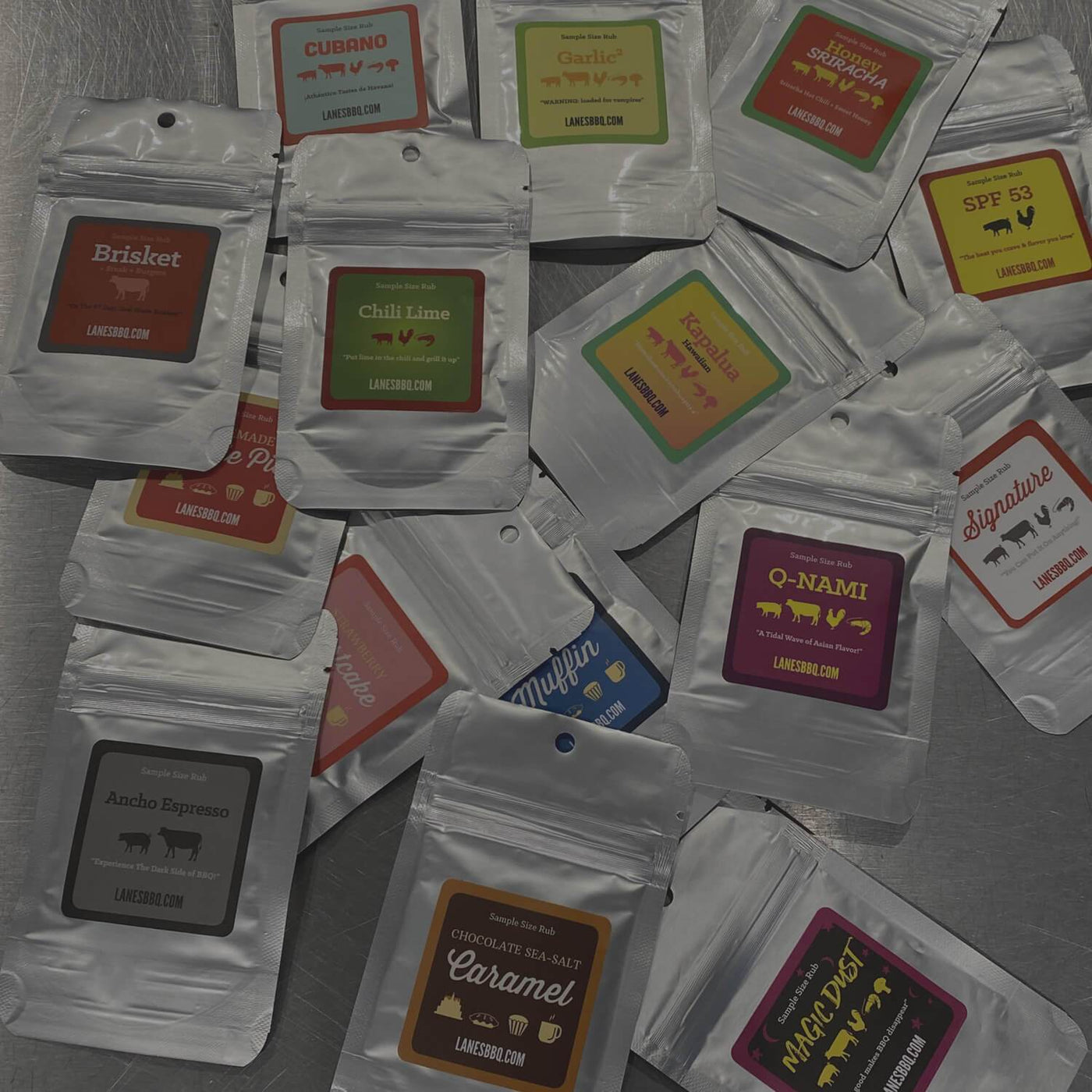 Lane's BBQ Rub Sample Bags