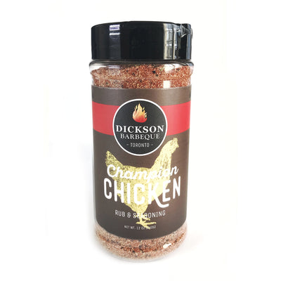 bottle of champion chicken rub