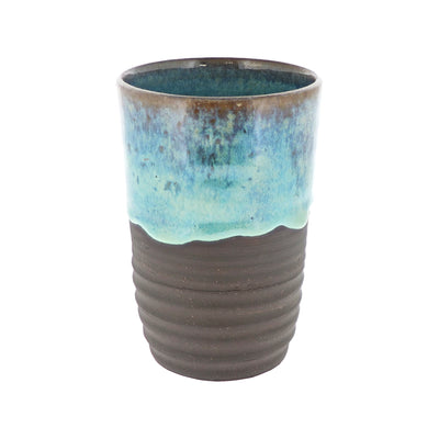 handcrafted pottery tumbler