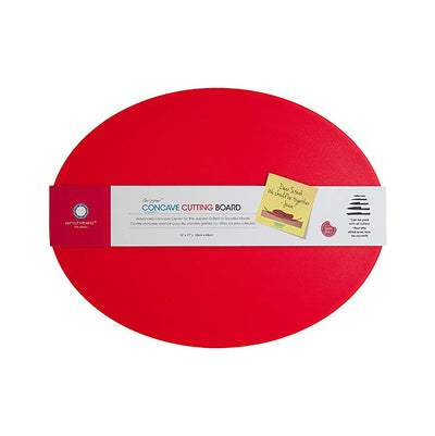 Red concave cutting board