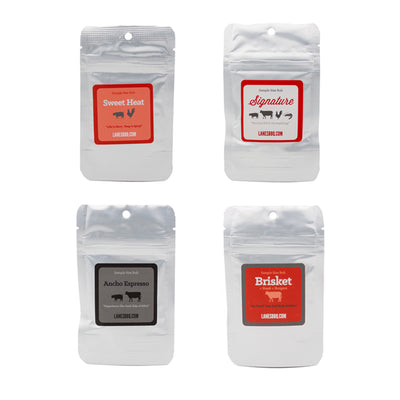 Lane's Core 4 rub sample bags