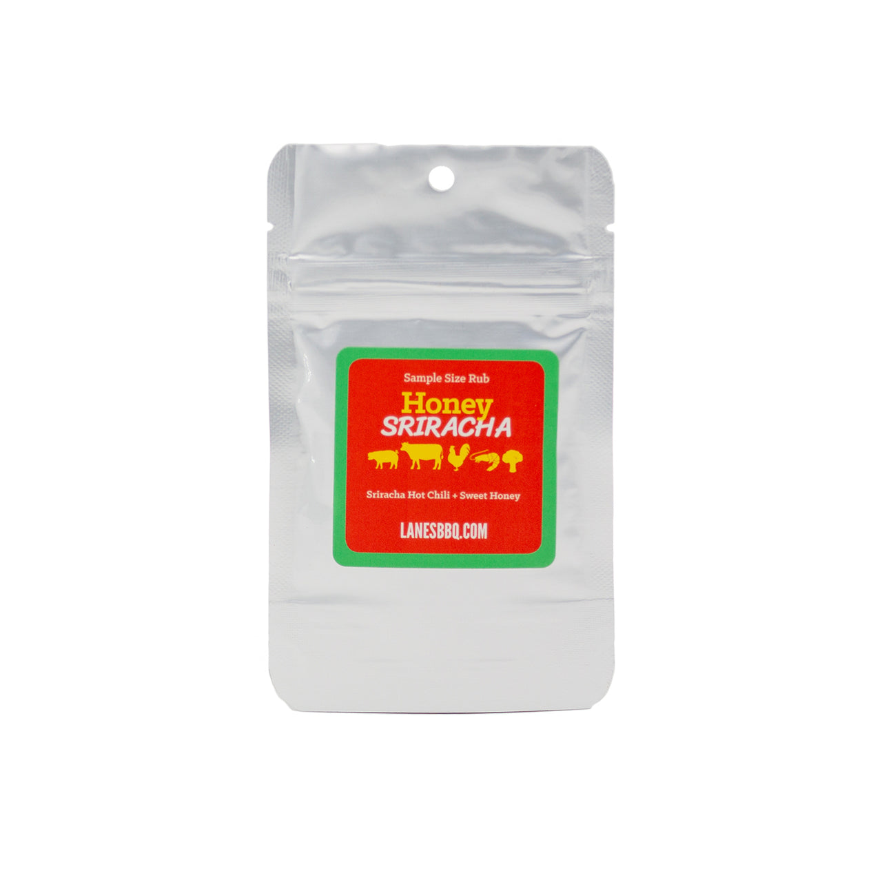 Honey Sriracha Rub - .50 oz Sample Bag