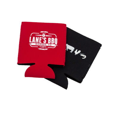 Lane's Red and Black Koozies