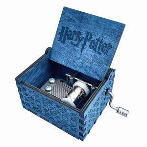 Blue Harry Potter Music Box
