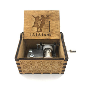 Anonymity  wooden Hand-Crafted La la land city of stars music box Wooden Music Box