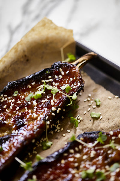 How to Make Miso Glazed Aubergine Vegan Gluten Free Clearspring Kurobuta