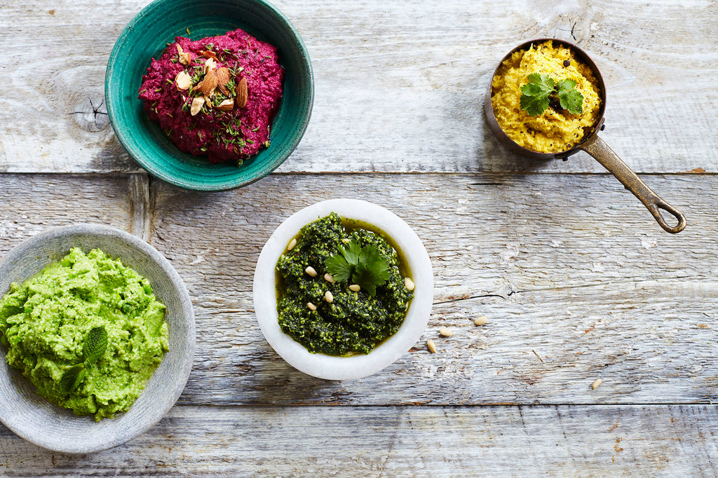 Condiments Dip Hummitas Beetroot and Thyme Dip Dairy Free Pesto Mint and Pea Dip