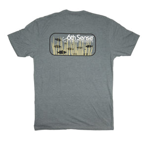 Grass Bass Tee - Heather Metal