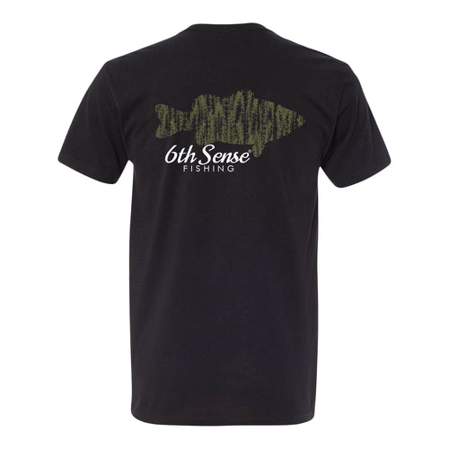 Bass Grass Tee - Black