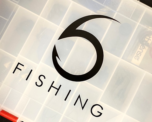 '6 Fishing' Decal (5