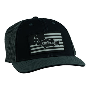 Valor Angler - FlexFit Fitted - Black/Gray