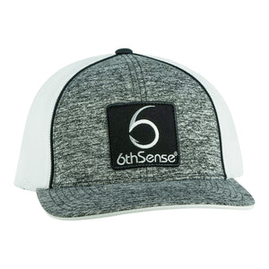 6th Sense Logo - Flex-Fitted - Heather Gray/White