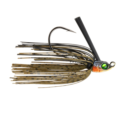 Divine Swim Jig - Green Pumpkin Black
