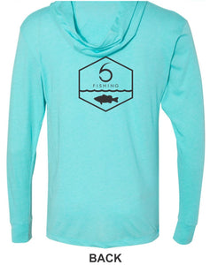 Angler - Hooded T-Shirt - Tahiti Blue (XS)