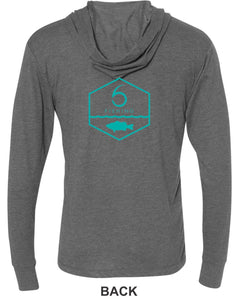 Angler - Hooded T-Shirt - Heather Gray (XS)