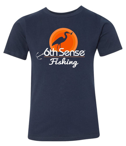 Kids Tee - Navy Sunset Heron