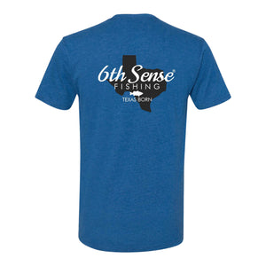 The Texan Tee - Heather Cool Blue