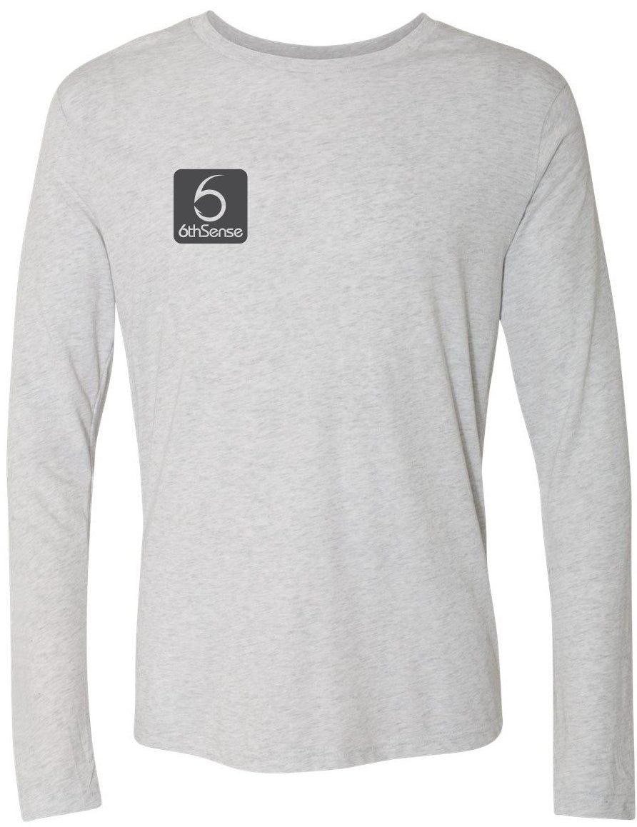 Essential 6 - L/S Tee - Heather White