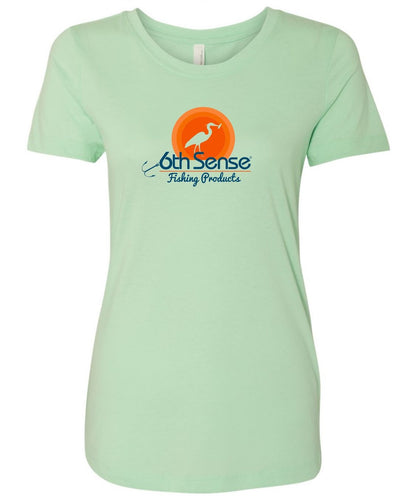 Womens Fitted Tee - Mint Sunset Heron