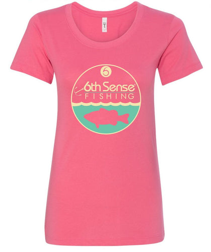 Women's Fitted Tee - Hot Pink Deepwater (LG, XL)