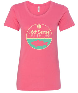 Womens Fitted Tee - Hot Pink Deepwater