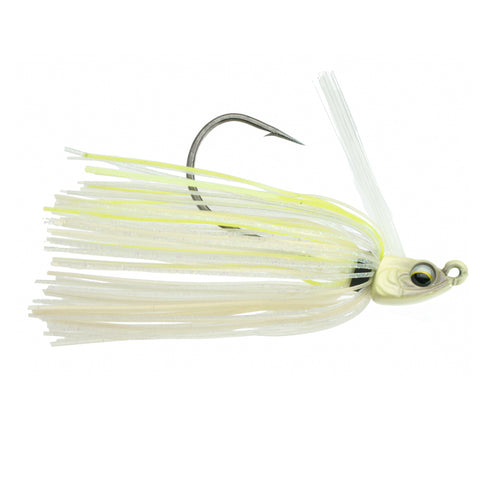 Divine Swim Jig - Bone Treuse Pearl