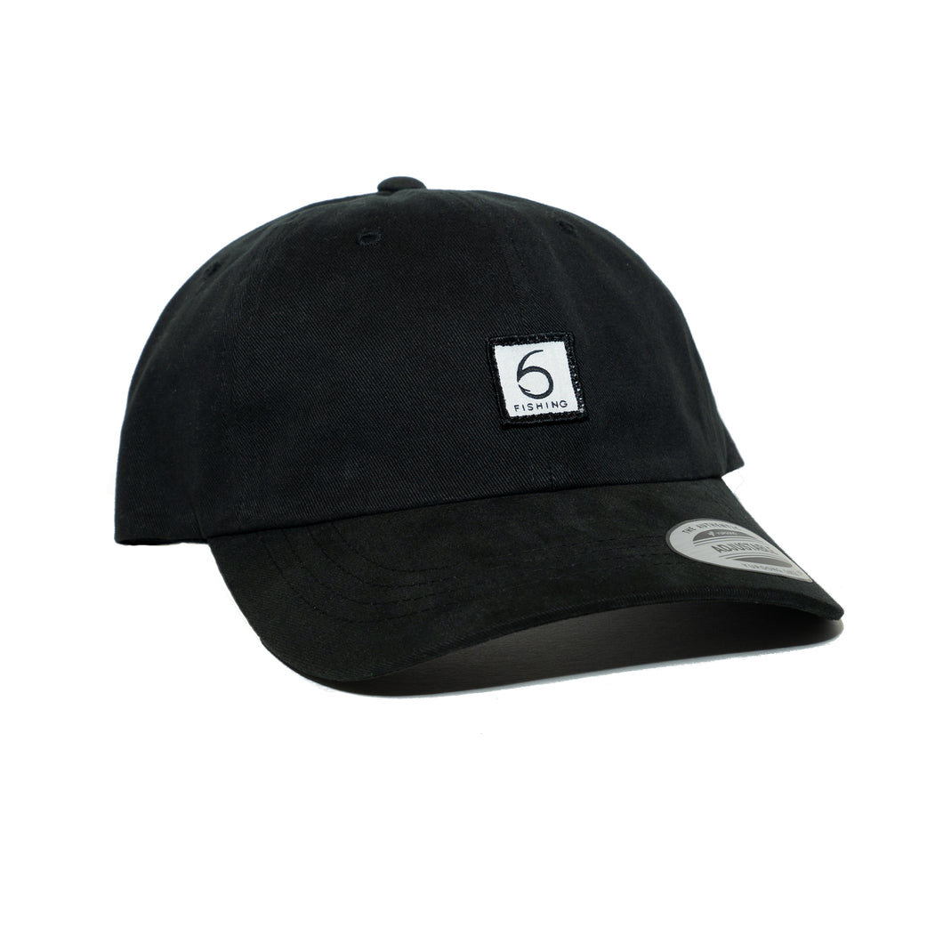 6 Fishing Dad Hat - Black