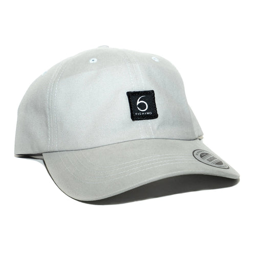 6 Fishing Dad Hat - Light Gray